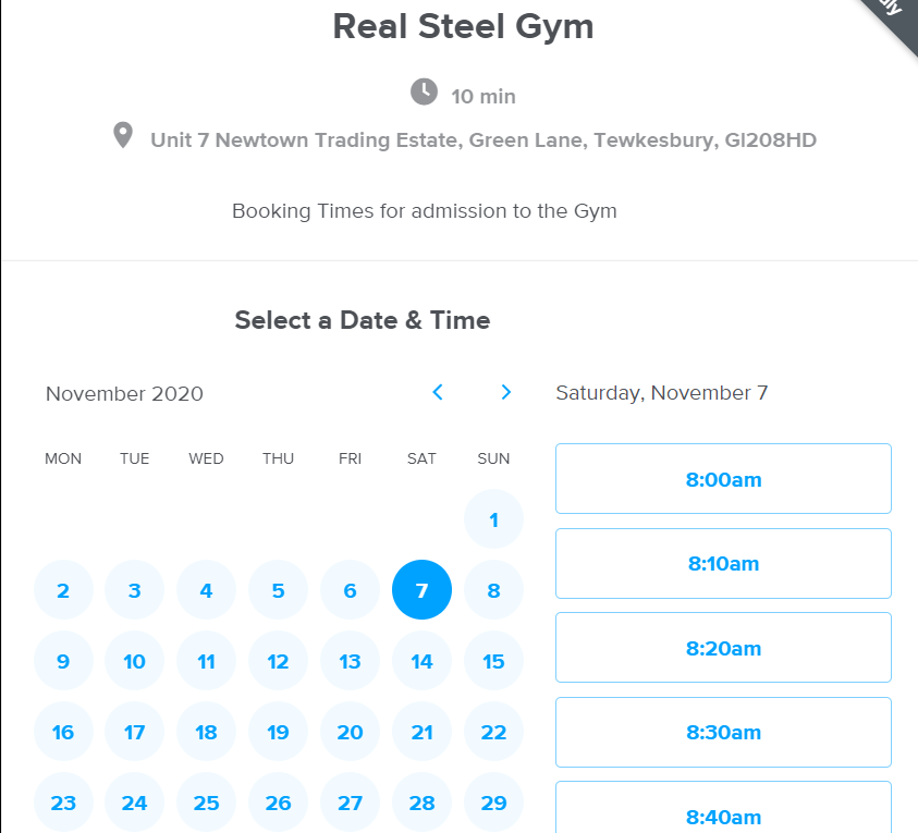 Booking at Real Steel
